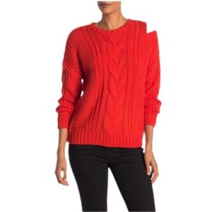 One A Mixed Knit Crew Neck Sweater